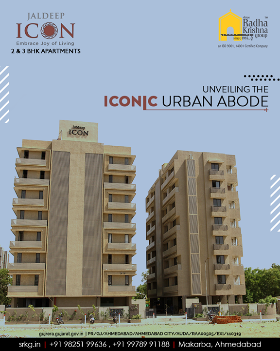Turning impressions into reality, we unveil the iconic urban residential project; #JaldeepIcon. Book a site visit and get your quote now!   #BookingsOpen #IconicLiving #ShreeRadhaKrishnaGroup #Ahmedabad #RealEstate #SRKG #KidFriendlyAmenities