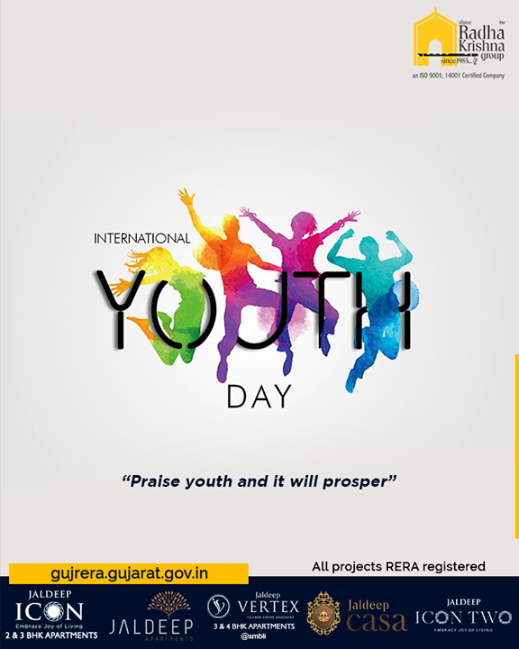 Radha Krishna Group,  InternationalYouthDay, YouthDay, ShreeRadhaKrishnaGroup, Ahmedabad, RealEstate, SRKG