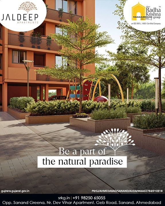 Be a part of the natural paradise in the urban setting. Discover more in the premises of your own home.  #JaldeepApartment #ExpanseOfElegance #LuxuryLiving #ShreeRadhaKrishnaGroup #Ahmedabad #RealEstate #SRKG #IconicApartments
