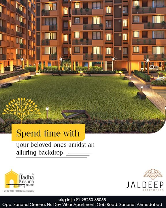 Time is the most precious present for your loved ones! Spend time with your beloved ones amidst an alluring backdrop of #JaldeepApartment.  #AlluringApartments #ExpanseOfElegance #LuxuryLiving #ShreeRadhaKrishnaGroup #Ahmedabad #RealEstate #SRKG #IconicApartments