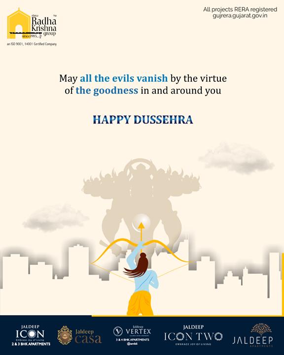 Radha Krishna Group,  HappyDussehra, Dussehra, Dussehra2019, Vijayadashami, Festival, ShreeRadhaKrishnaGroup, Ahmedabad, RealEstate, SRKG