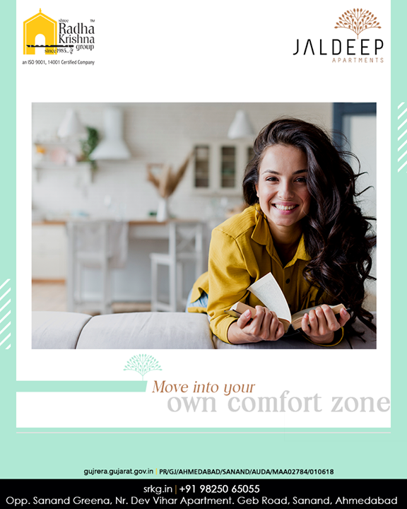 Re-discover and re-invent yourself by spending more me-time at your own comfort zone.  #AlluringApartments #ExpanseOfElegance #LuxuryLiving #ShreeRadhaKrishnaGroup #Ahmedabad #RealEstate #SRKG