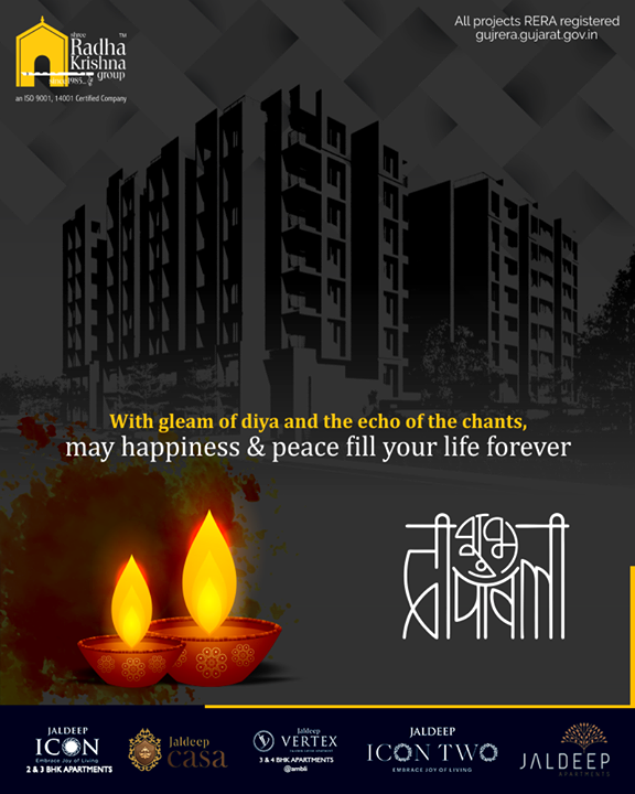 With gleam of Diya and the echo of the chants, may happiness & peace fill your life forever.  #HappyDiwali #IndianFestivals #Celebration #Diwali #Diwali2019 #FestivalOfLight #FestivalOfJoy #ShreeRadhaKrishnaGroup #Ahmedabad #RealEstate #SRKG