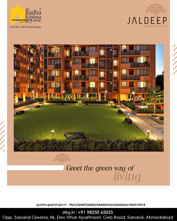 Embrace elegance besides greeting the green way of living at #JaldeepApartment.  #AlluringApartments #ExpanseOfElegance #LuxuryLiving #ShreeRadhaKrishnaGroup #Ahmedabad #RealEstate #SRKG