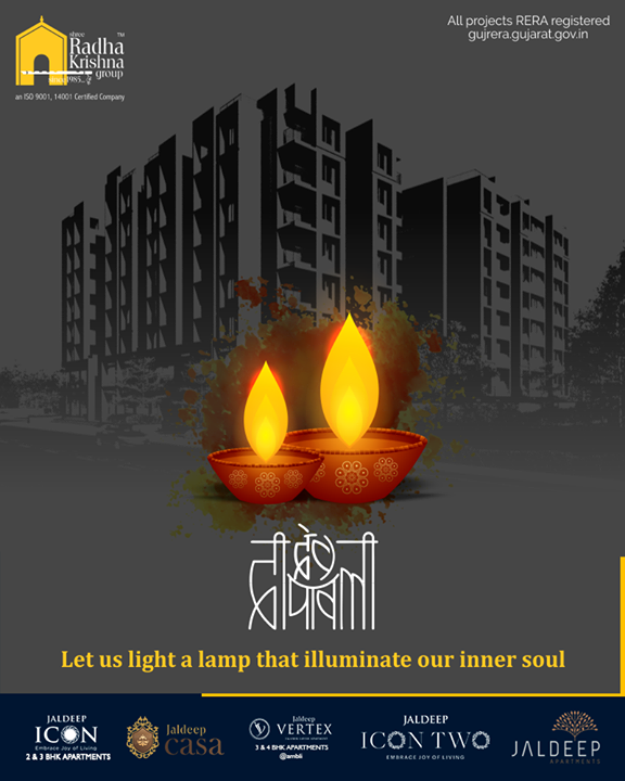 Let us light a lamp that illuminates our inner soul  #DevDeepawali #HappyDevDeepawali  #ShreeRadhaKrishnaGroup #Ahmedabad #RealEstate #SRKG