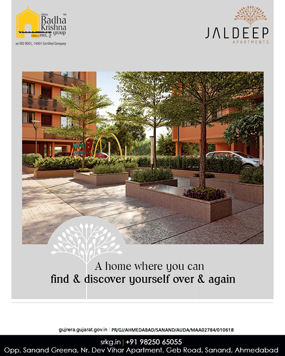 Resolve to be surrounded with an array of amenities at a home where you can find and discover yourself over & again.  #JaldeepApartment #AlluringApartments #ExpanseOfElegance #LuxuryLiving #ShreeRadhaKrishnaGroup #Ahmedabad #RealEstate #SRKG
