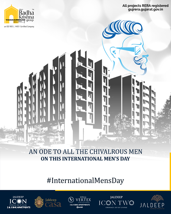 An ode to all the chivalrous men on this international men's day.  #InternationalMensDay #MensDay #MensDay2019 #ShreeRadhaKrishnaGroup #Ahmedabad #RealEstate #SRKG