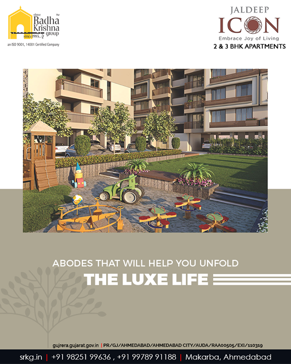 #JaldeepIcon shall offer the abodes that will help you unfold the luxury of nature and the luxe life.  #AlluringApartments #ExpanseOfElegance #LuxuryLiving #ShreeRadhaKrishnaGroup #Ahmedabad #RealEstate #SRKG
