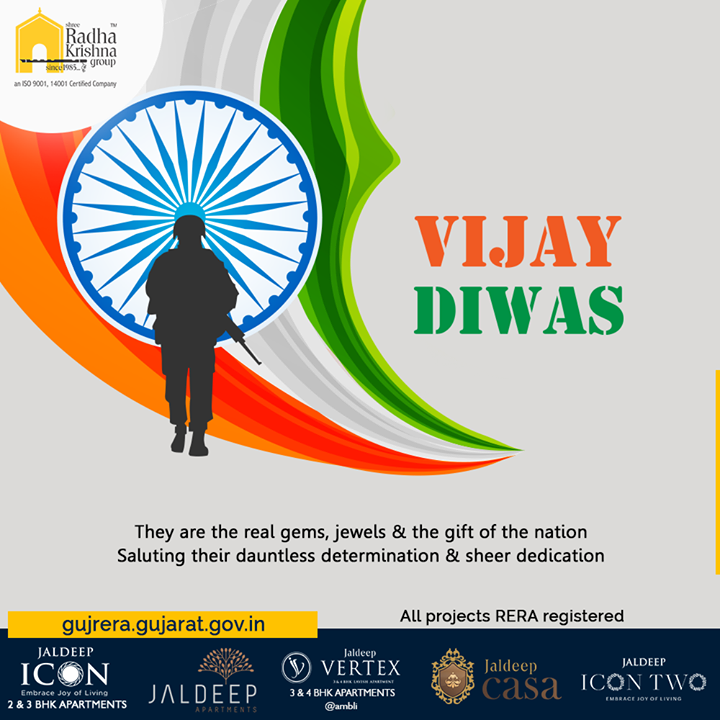 They are the real gems, jewels & the gift of the nation. Saluting their dauntless determination & sheer dedication.  #VijayDiwas #VijayDiwas2019 #Salute #Brave #IndianArmy #Jaihind #16december1971 #1971War #ShreeRadhaKrishnaGroup #Ahmedabad #RealEstate #SRKG #IconicApartments #IconicLiving