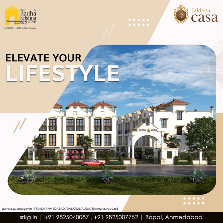 Experience a world of unseen luxury with truly world-class amenities and elevate your lifestyle to an all new level.  #JaldeepCasa #WorkOfHappiness #Bopal #Amenities #LuxuryLiving #ShreeRadhaKrishnaGroup #Ahmedabad #RealEstate