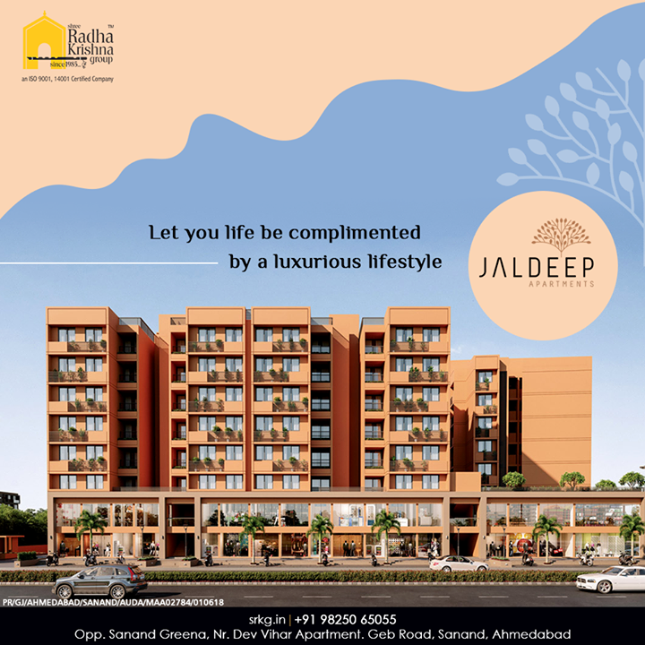 Reside by the state-of-the-art amenities and let your life becomplimented by a luxurious lifestyle.  #JaldeepApartment #AlluringApartments #ExpanseOfElegance #LuxuryLiving #ShreeRadhaKrishnaGroup #Ahmedabad #RealEstate #SRKG