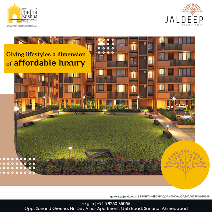The count-down to a cost-effective and yet opulent lifestyle has already begun.  #JaldeepApartment is soon coming to give the lifestyles a dimension of affordable luxury.  #AlluringApartments #ExpanseOfElegance #LuxuryLiving #ShreeRadhaKrishnaGroup #Ahmedabad #RealEstate #SRKG