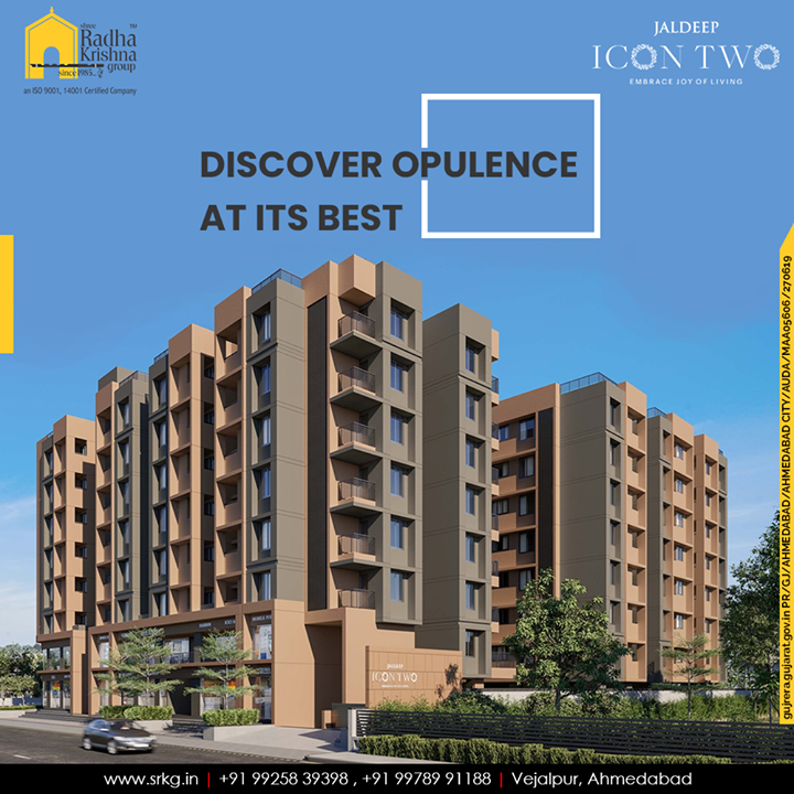 Embrace luxury that will speak for itself and discover opulence at its best.  #Icon2 #LuxuryLiving #ShreeRadhaKrishnaGroup #Ahmedabad #RealEstate #SRKG