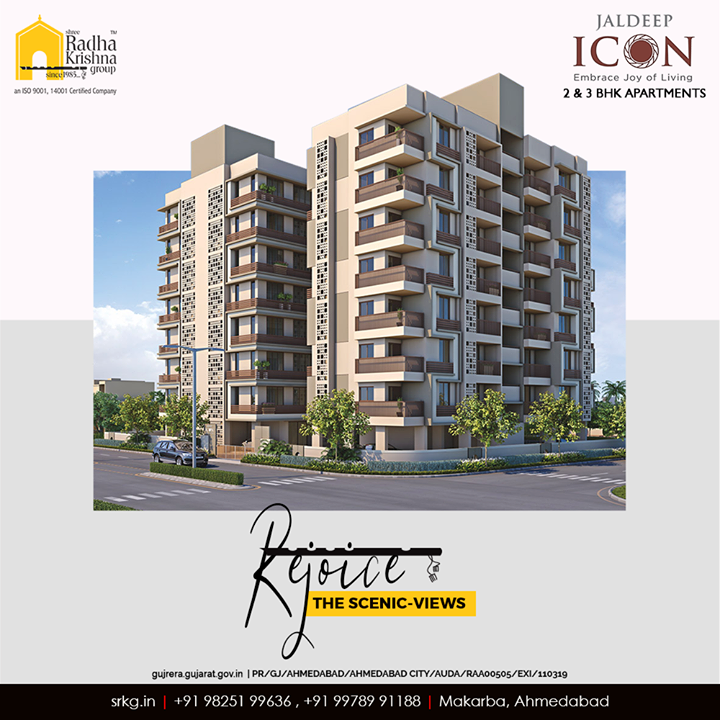 Rejoice the scenic-views and let your eyes feast the soul-soothing environs.  #JaldeepIcon #Icon2 #LuxuryLiving #ShreeRadhaKrishnaGroup #Ahmedabad #RealEstate #SRKG