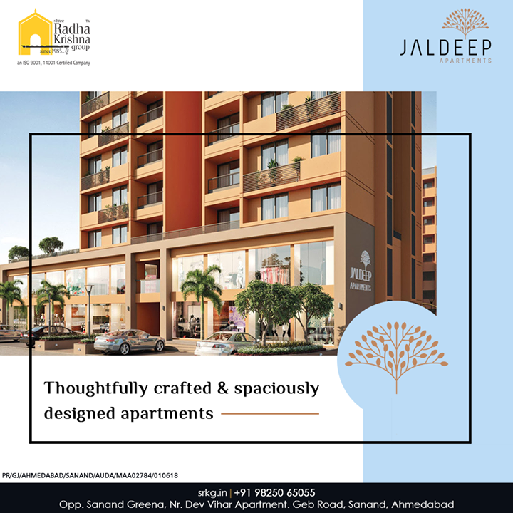 Are you looking to buy an affordable house?  If yes, then you must take a closer look at the thoughtfully crafted and spaciously designed #JaldeepApartment.  #AlluringApartments #ExpanseOfElegance #LuxuryLiving #ShreeRadhaKrishnaGroup #Ahmedabad #RealEstate #SRKG