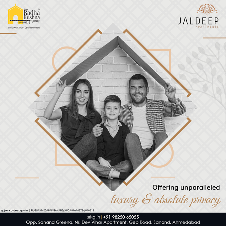 The affordable and yet luxurious residential project; #JaldeepApartment aspires offeringunparalleled luxury and absolute privacy to its residents.  #AlluringApartments #ExpanseOfElegance #LuxuryLiving #ShreeRadhaKrishnaGroup #Ahmedabad #RealEstate #SRKG