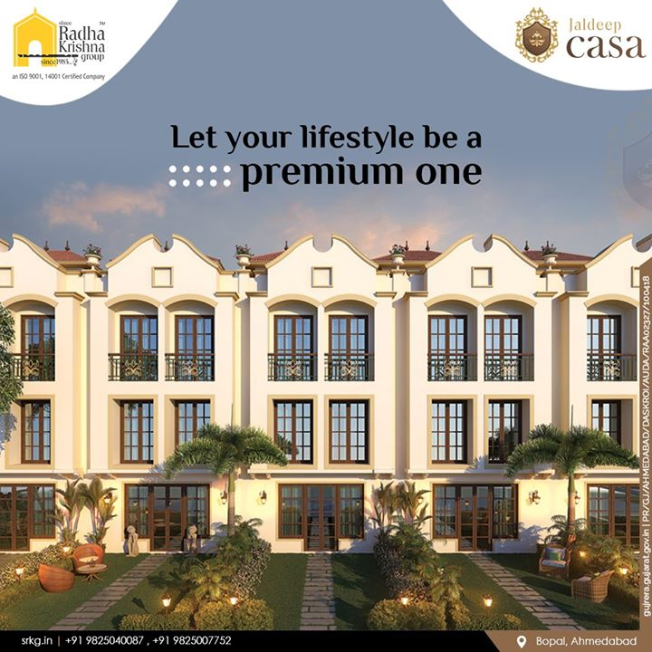 Live your life on your terms; a premium lifestyle awaits you at #JaldeepCasa.  #WorkOfHappiness #Bopal #Amenities #LuxuryLiving #ShreeRadhaKrishnaGroup #Ahmedabad #RealEstate