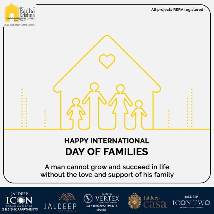 Radha Krishna Group,  InternationalDayofFamilies, InternationalDayofFamilies2020, SRKG, ShreeRadhaKrishnaGroup, Ahmedabad, RealEstate
