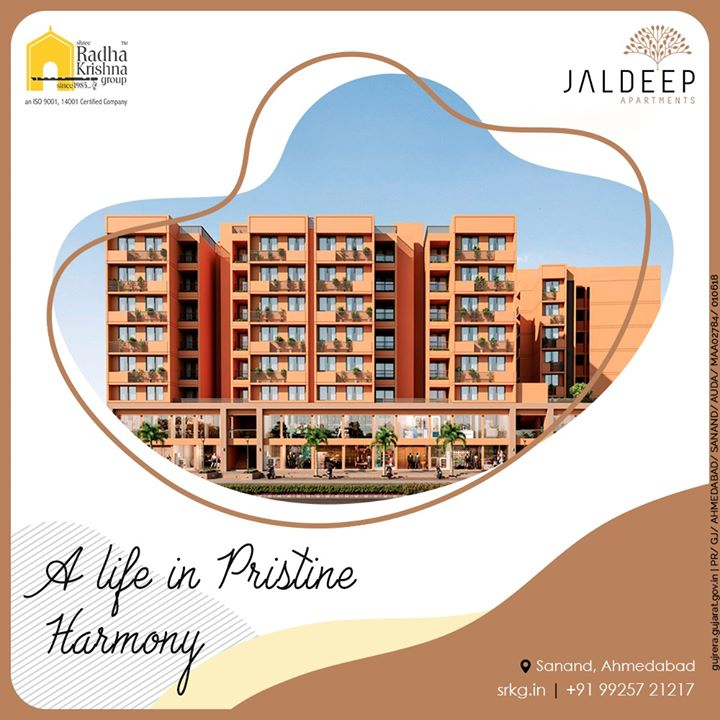 At #JaldeepApartment experience pristine harmony and serenity amidst umpteen amenities  #SRKG #ShreeRadhaKrishnaGroup #Ahmedabad #RealEstate