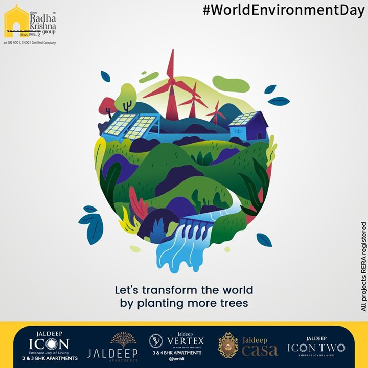 Radha Krishna Group,  WorldEnvironmentDay, EnvironmentDay2020, SaveEnvironment, SRKG, ShreeRadhaKrishnaGroup, Ahmedabad, RealEstate
