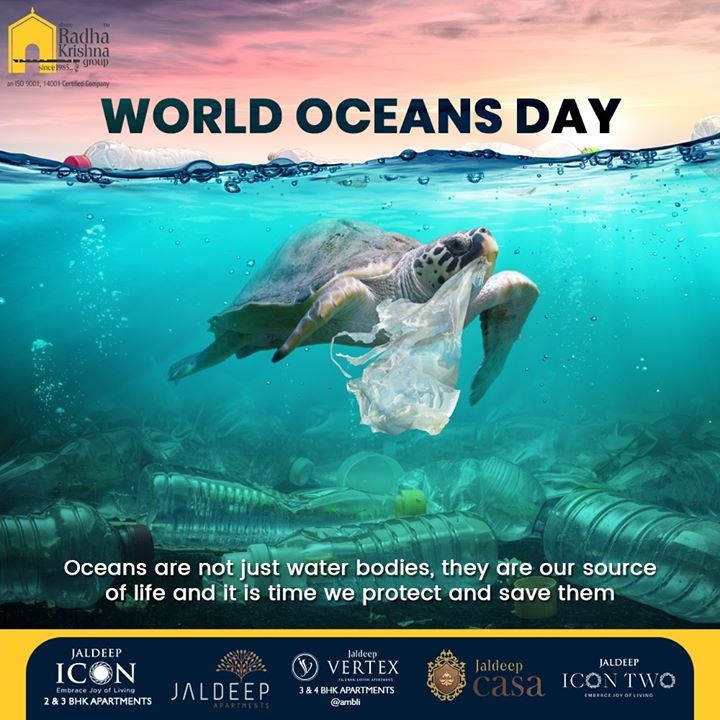 This World Oceans Day vouch to make the oceans a safer place for all its living inhabitants.  #WorldOceansDay #WorldOceansDay2020 #OceansDay #SRKG #ShreeRadhaKrishnaGroup #Ahmedabad #RealEstate