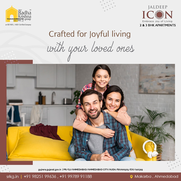 With the right blend of innovation and thoughtful construction; JaldeepIcon comprises of the redefines abodes that shall revive the lifestyle of its dwellers.  #Icon #LuxuryLiving #ShreeRadhaKrishnaGroup #Ahmedabad #RealEstate #SRKG