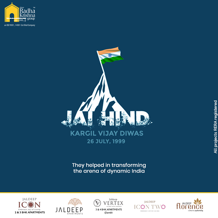 They helped in transforming the arena of dynamic India.  #KargilVijayDiwas #KargilVijayDiwas2020 #JaiHind #IndianArmy #RememberingKargil #ShreeRadhaKrishnaGroup #Ahmedabad #RealEstate #SRKG