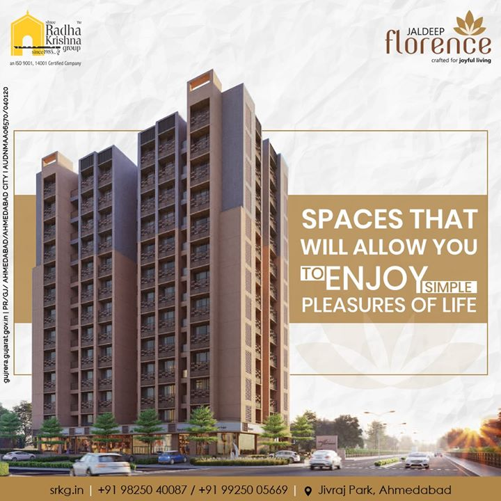Looking forward to booking a dream house that will offer you a unique living experience?  Consider your search over at #JaldeepFlorence.  #LuxuryLiving #ShreeRadhaKrishnaGroup #Ahmedabad #RealEstate #SRKG