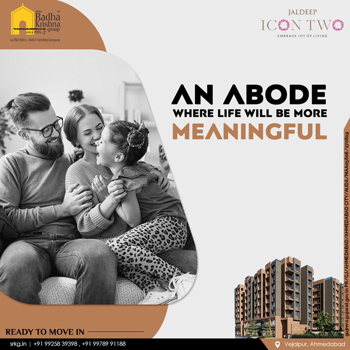 Elevate your landscape and lifestyle to an abode where life will seem to be more meaningful.  #JaldeepIcon2 #Icon2 #Vejalpur #LuxuryLiving #ShreeRadhaKrishnaGroup #Ahmedabad #RealEstate #SRKG