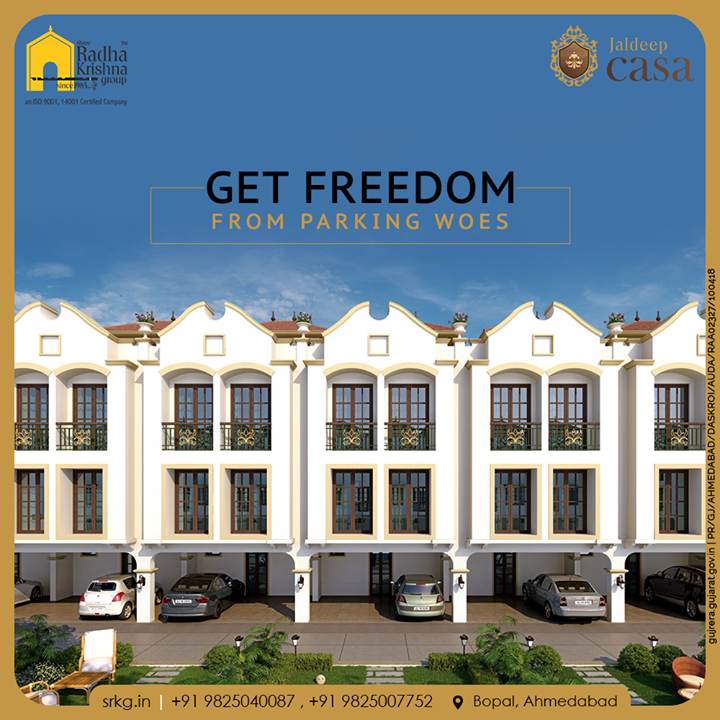 Now the problem of parking will not arise as a huge space has been allotted for parking. Adore the concept of independent living at the gloriously designed glamorous residential project; Jaldeep Casa.  #JaldeepCasa #WorkOfHappiness #Bopal #Amenities #LuxuryLiving #ShreeRadhaKrishnaGroup #Ahmedabad #RealEstate