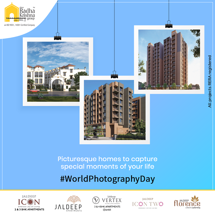 Picturesque homes to capture special moments of your life.  #WorldPhotographyDay #PicturePerfect #WorldPhotographyDay2020 #ShreeRadhaKrishnaGroup #Ahmedabad #RealEstate #SRKG