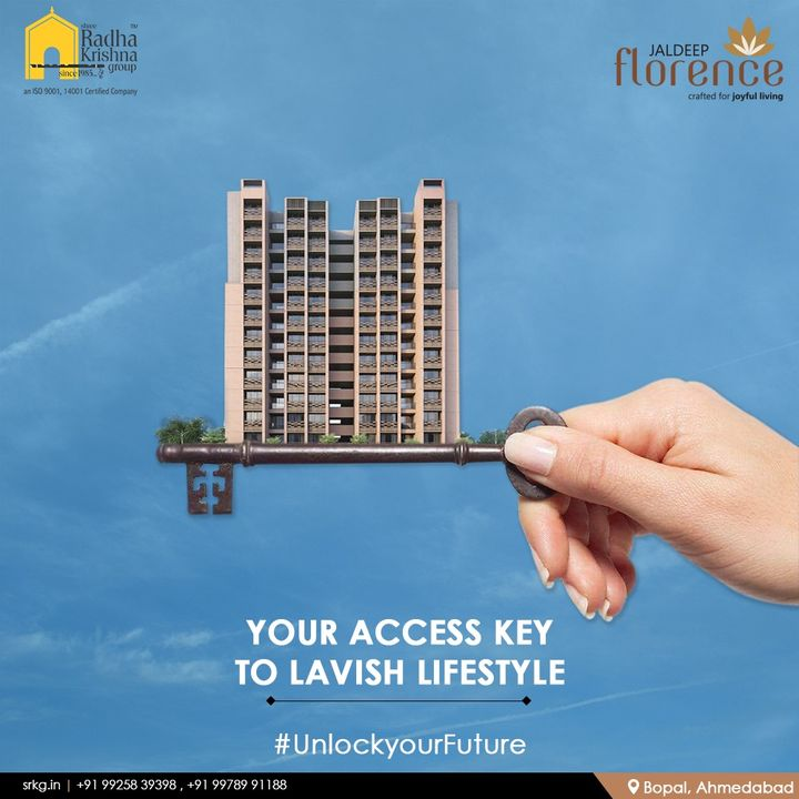 #UnlockyourFuture  Jaldeep Florence is your access key to Lavish Lifestyle where you find home surrounded by tranquility, Landscape Park is designed with the desire to offer a refreshing respite for a serene and joyful living experience.  #JaldeepFlorence #Launchingsoon #LuxuryLiving #ShreeRadhaKrishnaGroup #Ahmedabad #RealEstate #SRKG