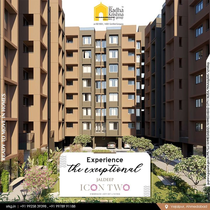 One-of-its-kind living @Jaldeep Icon Two features superlative luxuries with modern amenities within reach.   Jaldeep Icon Two has 2 BHK Apartments & Shops @Vejalpur-Makarba.  #JaldeepIconTwo #IconTwo #Vejalpur #Makarba #LuxuryLiving #ShreeRadhaKrishnaGroup #RadhaKrishnaGroup #SRKG #Vejalpur #Makarba #Ahmedabad #RealEstate