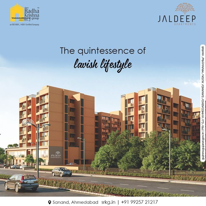 Jaldeep apartments with its state of the are luxuries and amenities if the ultimate quintessence of luxurious and lavish lifestyle.  #JaldeepApartments #LuxuryLiving #ShreeRadhaKrishnaGroup #Ahmedabad #RealEstate #SRKG