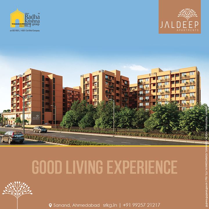 Move into a home where good living experiences are all around. Reside amidst the elites at the explicitly built Jaldeep Apartments.  #JaldeepApartments #LuxuryLiving #ShreeRadhaKrishnaGroup #Ahmedabad #RealEstate #SRKG