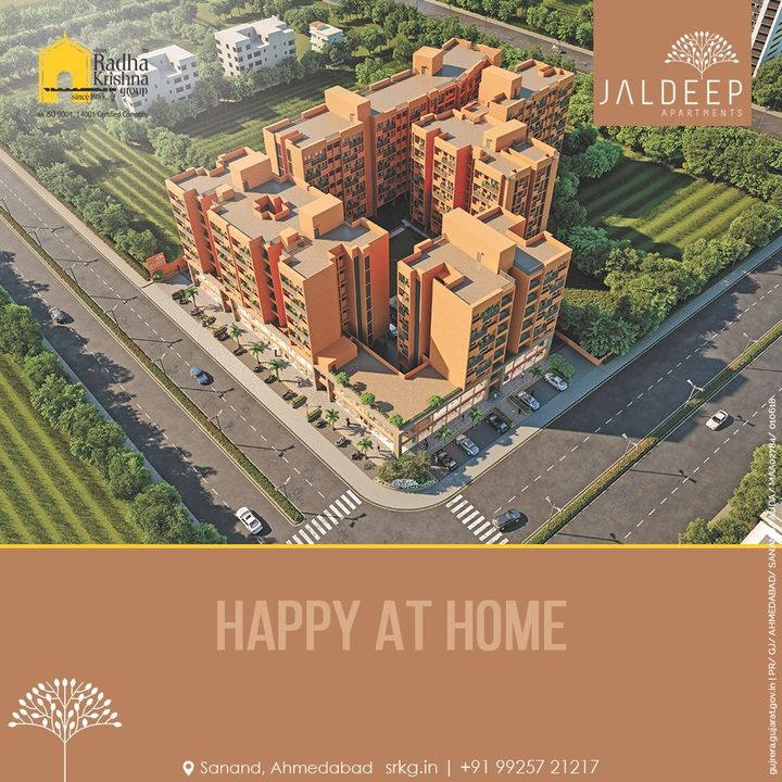 Live a happy life at a Happy home where luxury and contentment reside in every corner. Only at the exclusively built Jaldeep Apartments.  #JaldeepApartments #LuxuryLiving #ShreeRadhaKrishnaGroup #Ahmedabad #RealEstate #SRKG