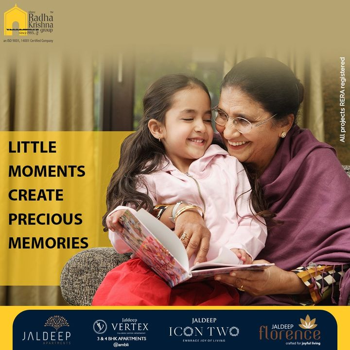 Gift your family a home where little moments become precious memories.  #ShreeRadhaKrishnaGroup #Ahmedabad #RealEstate #SRKG