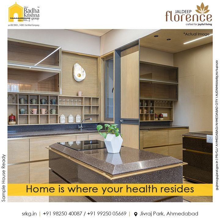 Home is where you claim to be hale & hearty and your health resides.  Stay active and take pride in doing your daily chores at home  #JaldeepFlorence #Amenities #Launchingsoon #LuxuryLiving #RadhaKrishnaGroup #ShreeRadhaKrishnaGroup #JivrajPark #Ahmedabad #RealEstate #SRKG