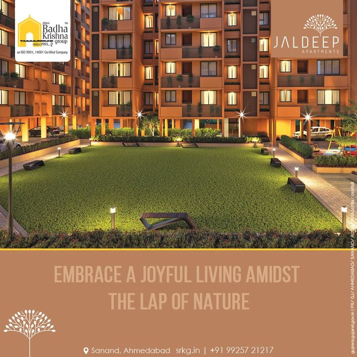 Quintessentially built Jaldeep Apartments, offers you warm and spacious 2 BHK homes where you and your loved ones can dwell well amidst the laps of nature.  #JaldeepApartments #LuxuryLiving #ShreeRadhaKrishnaGroup #Ahmedabad #RealEstate #SRKG
