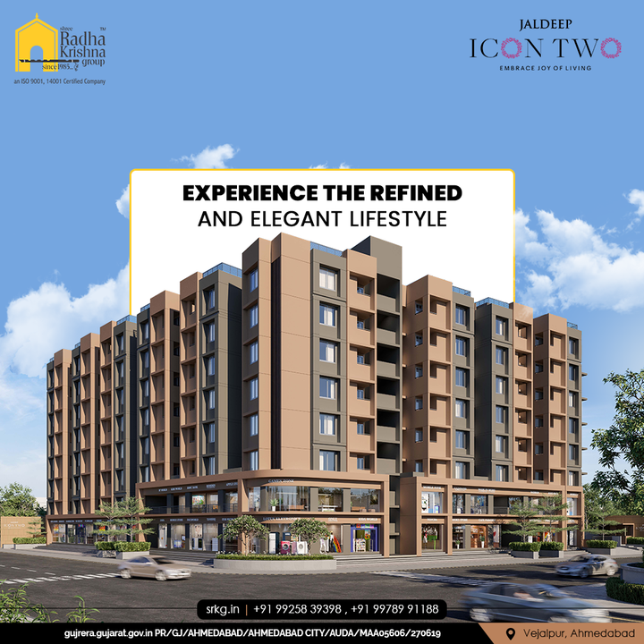 Experience the refined and elegant lifestyle that gives you the freedom to be yourself and shine like never before, only at Jaldeep Icon Two.  #JaldeepIconTwo #IconTwo #LuxuryLiving #ShreeRadhaKrishnaGroup #RadhaKrishnaGroup #SRKG #Vejalpur #Makarba #Ahmedabad #RealEstate