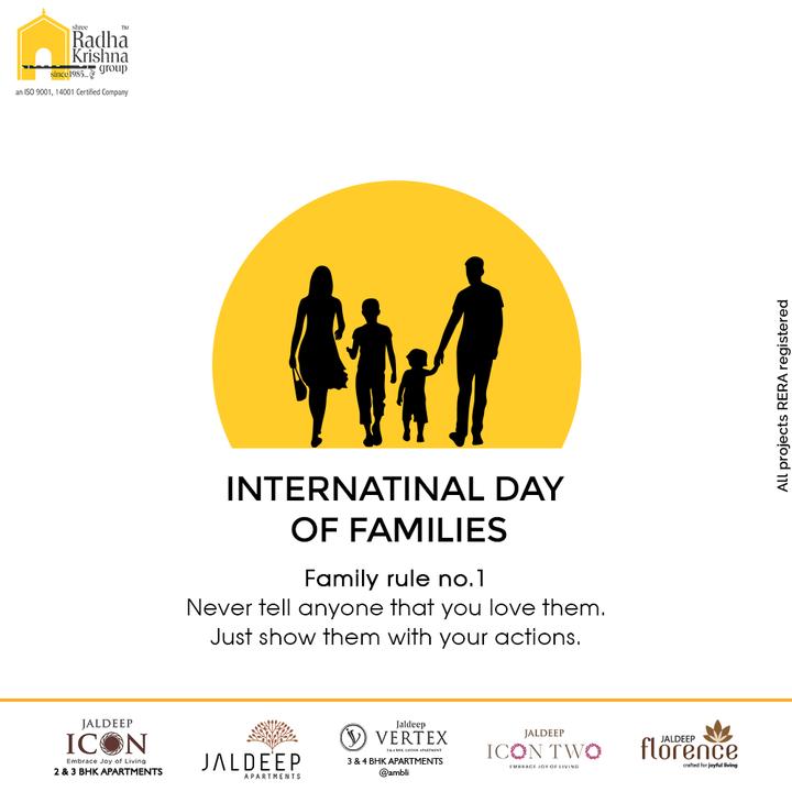 Radha Krishna Group,  InternationalDayofFamilies, InternationalDayofFamilies2021, ShreeRadhaKrishnaGroup, RadhaKrishnaGroup, SRKG, Ahmedabad, RealEstate
