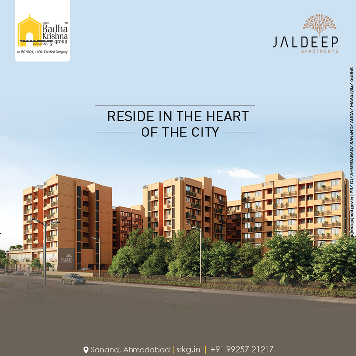 Reside in the heart of the city where everything you need is just a walk away. Reside at Jaldeep Apartments.  #JaldeepApartments #LuxuryLiving #ShreeRadhaKrishnaGroup #Ahmedabad #RealEstate #SRKG
