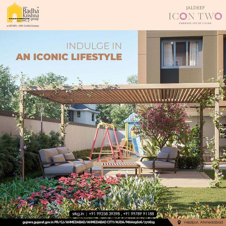 Indulge in an iconic lifestyle everything is of the state-of-the-art quality only at Jaldeep Icon Two.  #JaldeepIconTwo #IconTwo #LuxuryLiving #ShreeRadhaKrishnaGroup #RadhaKrishnaGroup #SRKG #Vejalpur #Makarba #Ahmedabad #RealEstate