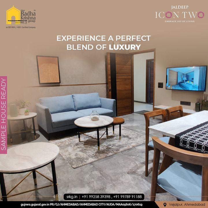 Live a celebratory life & revel in luxury at the contemporarily designed Jaldeep Icon Two.  #SampleHouseReady #JaldeepIconTwo #IconTwo #LuxuryLiving #ShreeRadhaKrishnaGroup #RadhaKrishnaGroup #SRKG #Vejalpur #Makarba #Ahmedabad #RealEstate