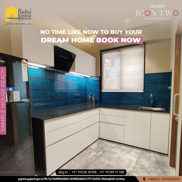 Soak the best in experience with us. Contact us now to kno =w about the projects and their specifications.  #JaldeepIconTwo #IconTwo #LuxuryLiving #ShreeRadhaKrishnaGroup #RadhaKrishnaGroup #SRKG #Vejalpur #Makarba #Ahmedabad #RealEstate