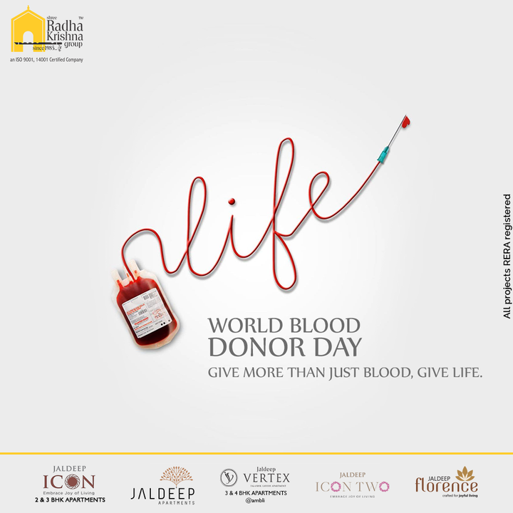 GIve more than just bood, Give Life.  #WorldBloodDonorDay2021 #BloodDonor #BloodDonorDay #WorldBloodDonorDay #ShreeRadhaKrishnaGroup #RadhaKrishnaGroup #SRKG #Ahmedabad #RealEstate