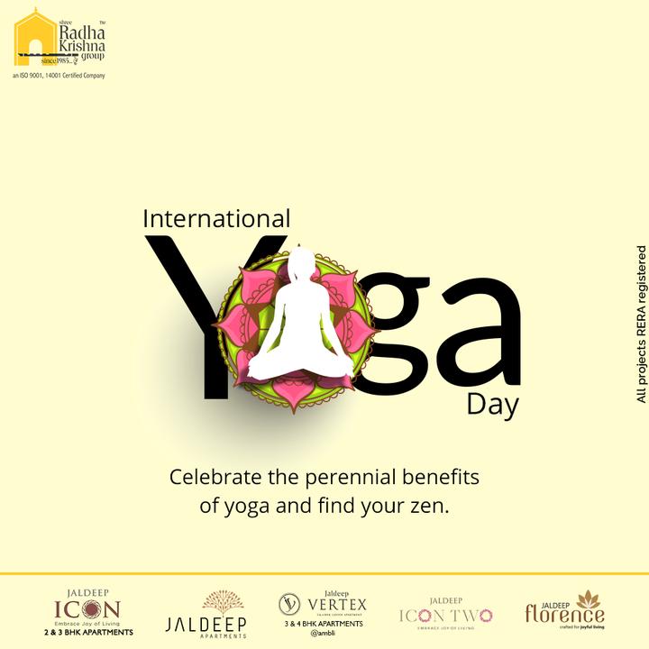 Celebrate the perennial benefits of yoga and find your zen  #internationalyogaday #internationalyogaday2021 #internationaldayofyoga #yoga  #yogaday #yogapractice #worldyogaday #fitness #meditation #yogaworld #healthylifestyle #yogatime #yogaathome #yogaforall #yogainspiration #ShreeRadhaKrishnaGroup #RadhaKrishnaGroup #SRKG #Ahmedabad #RealEstate