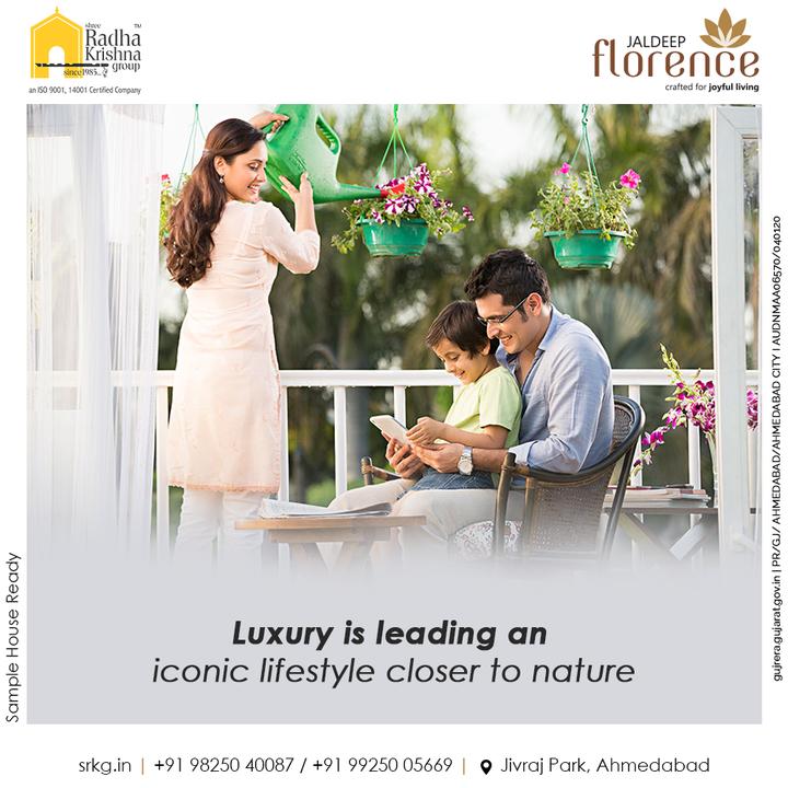 Luxury is leading an iconic lifestyle closer to nature. Let your lifestyle be inspired by the fragrance of florence.  #JaldeepFlorence #Amenities #LuxuryLiving #RadhaKrishnaGroup #ShreeRadhaKrishnaGroup #JivrajPark #Ahmedabad #RealEstate #SRKG