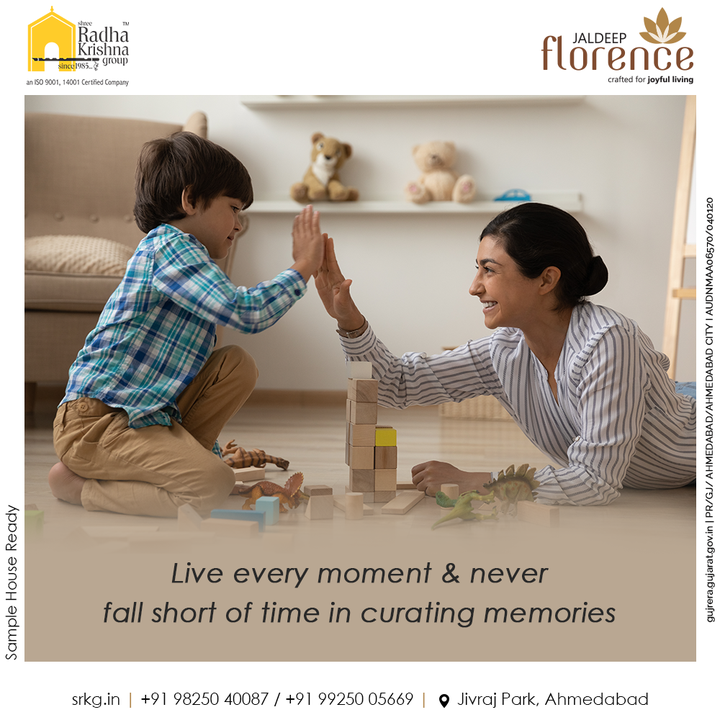 Live in the moment in every possible ways and never fall short of time in curating memories.   Live the happy life at home.   #JaldeepFlorence #Amenities #LuxuryLiving #RadhaKrishnaGroup #ShreeRadhaKrishnaGroup #JivrajPark #Ahmedabad #RealEstate #SRKG