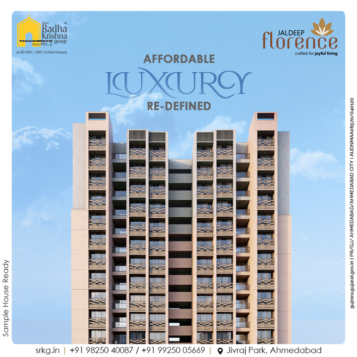 Live & Celebrate your ideal luxurious life without breaking the bank at Jaldeep Florence!  #JaldeepFlorence #Amenities #LuxuryLiving #RadhaKrishnaGroup #ShreeRadhaKrishnaGroup #JivrajPark #Ahmedabad #RealEstate #SRKG